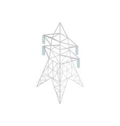 Pylon power icon isometric 3d style vector