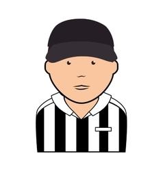 Referee man uniform icon vector