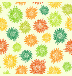 seamless pattern with flowers on light background vector image vector image