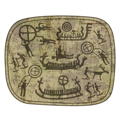 Shamanic petroglyph vector