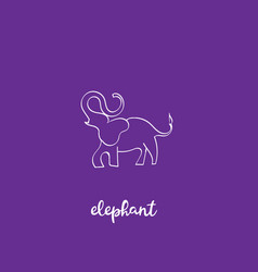 simple modern elephant logo elegant and stylish vector image