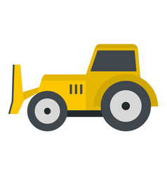 Skid steer loader icon isolated vector