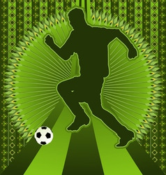 soccer vintage design vector image vector image