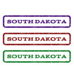 south dakota watermark stamp vector image vector image