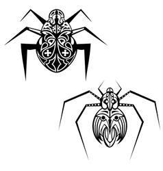 Spider tattoo vector