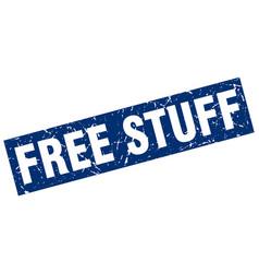 Square grunge blue free stuff stamp vector