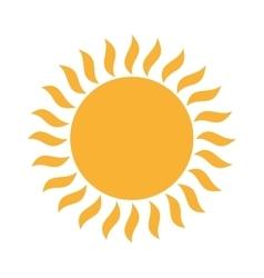 sun sunny yellow isolated vector image
