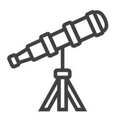 telescope line icon astronomy and science vector image vector image