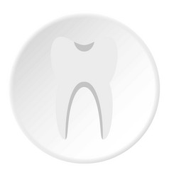 Tooth icon circle vector