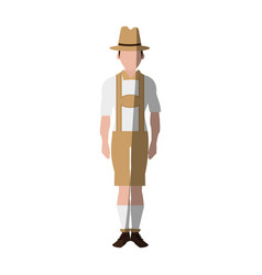 Traditional german bavarian costume icon image vector