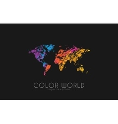 World map logo world logo color world creative vector