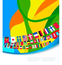 Abstract colorful pattern with flags of world vector