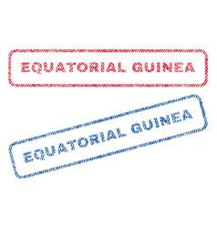 Equatorial guinea textile stamps vector
