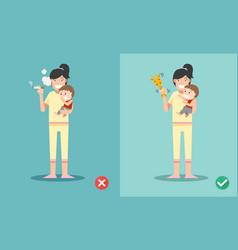 stop smoking for children vector image