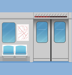 Interior of subway train vector