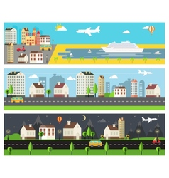 Cool cartooned banners vector