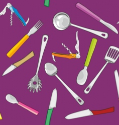 Kitchen tools background vector