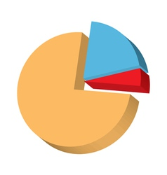 3d round diagram vector image