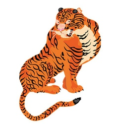 Artistic tiger design vector