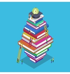Isometric education graduation back school 3d vector