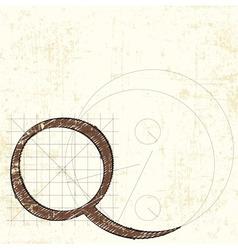 Letter q vector