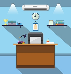 Interior office room flat design vector