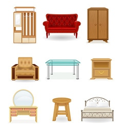 Set icons furniture 03 vector