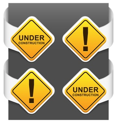 Left and right side signs - under construction vector