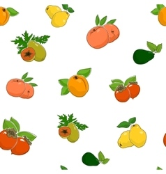 Seamless pattern of fruits and vegetables vector