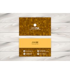 Geometric business card design vector