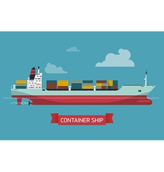 Container ship icon vector