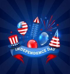 American banner for independence day traditional vector