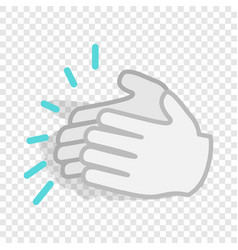 Applause clapping hands isometric icon vector