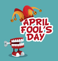 April fools day funny poster vector