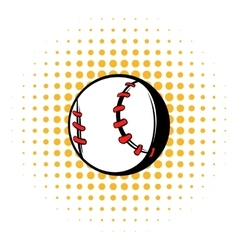 Baseball ball icon comics style vector image vector image