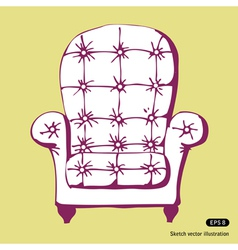 Beautiful chair vector image