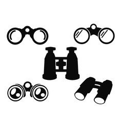 Binocular Icon Symbol Set vector image