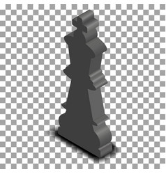 black king chess piece isometric vector image vector image