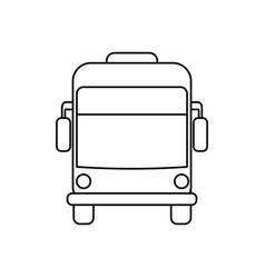 Bus public transport vector