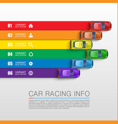 Car racing info art cover vector