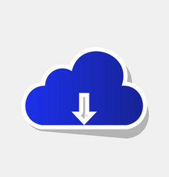 Cloud technology sign new year bluish vector