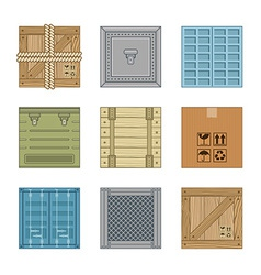 collection various boxes vector image
