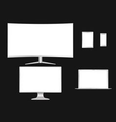 Computer tv laptop tablet phon vector