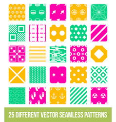 Different ornamental geometric big pattern set vector