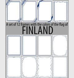 Flag v12 finland vector