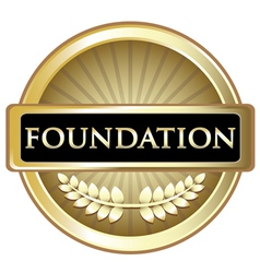 Foundation gold emblem vector