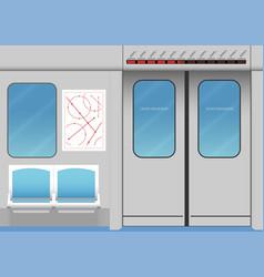 Interior of subway train vector
