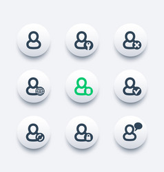 login account icons set vector image