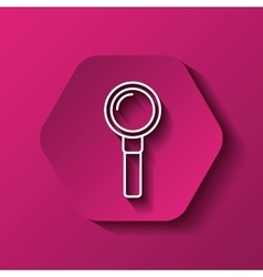 Lupe icon search design over hexagon vector