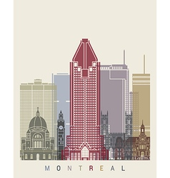 Montreal skyline poster vector image vector image